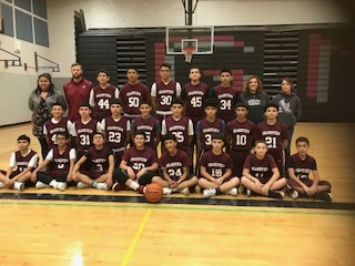 8th grade boys basketball and Coach Penwell and coach Eucker